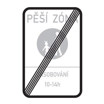 Dopravní značka IZ6b - Konec pěší zóny