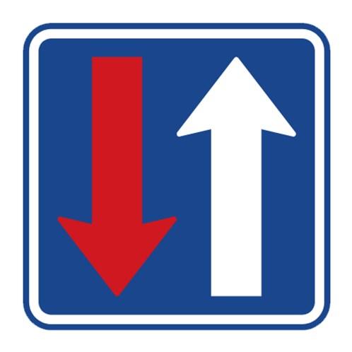 Dopravní značka - Přednost před protijedoucími vozidly