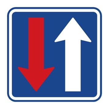 Dopravní značka P8 - Přednost před protijedoucími vozidly