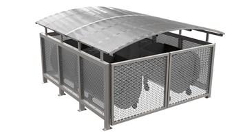 Přístřešek pro odpadkové kontejnery Quattro