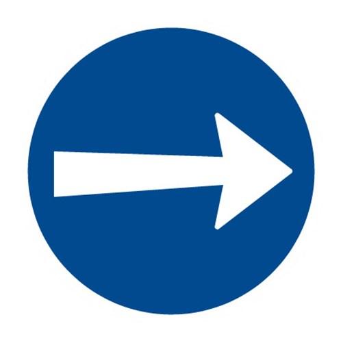 Dopravní značka  - Příkazová -Přikázaný směr jízdy zde vpravo, C3a