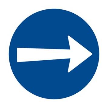 Dopravní značka C3a - Přikázaný směr jízdy zde vpravo