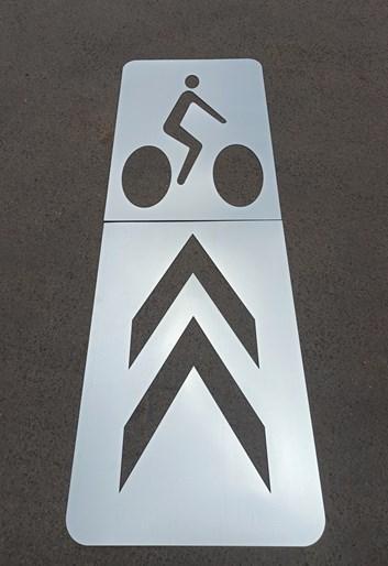 Šablona -  V20 Piktogramový koridor pro cyklisty