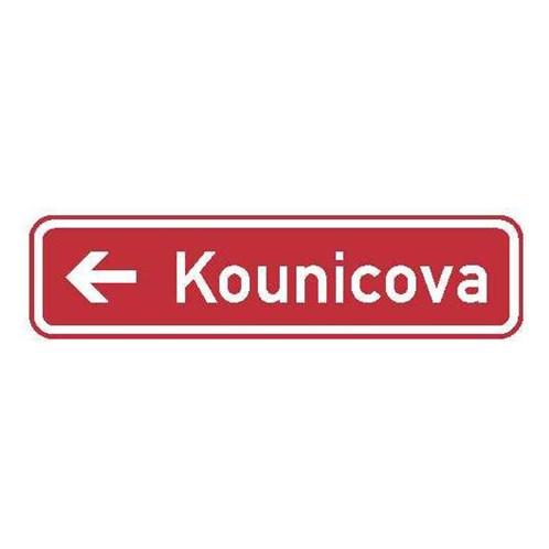 Dopravní značka - Informativní - Označení názvu ulice, IS22c, 1000 x 200mm