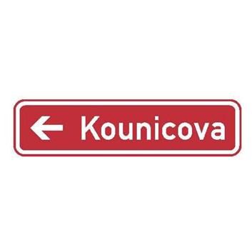 Dopravní značka IS22c - Označení názvu ulice