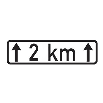 Dopravní značka E4 - Délka úseku