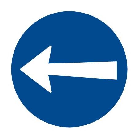 Dopravní značka - Přikázaný směr jízdy zde vlevo