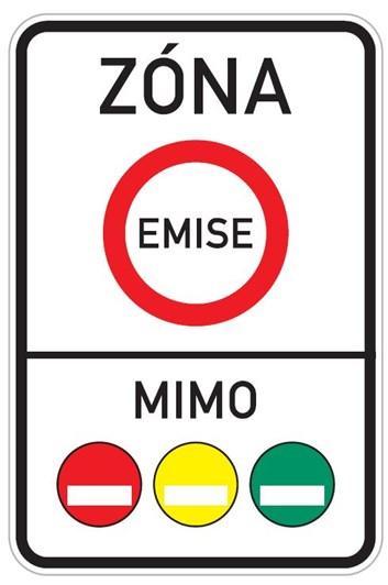 Dopravní značka IZ7a - Emisní zóna
