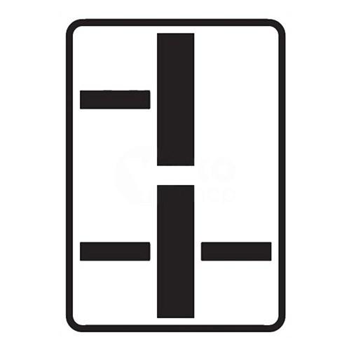 Dopravní značka - Dodatková tabulka - Tvar dvou křižovatek, E2d, 500 x 700mm
