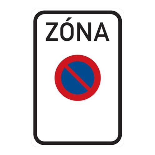Dopravní značka - Zóna s dopravním omezením,  750 x 1000mm