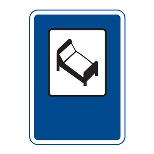 Dopravní značka - Hotel nebo motel, 500 x 700mm