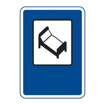 Dopravní značka IJ10 - Hotel nebo motel