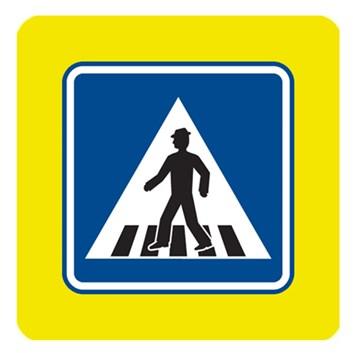 Dopravní značka IP6 - Přechod pro chodce, zvýrazněná