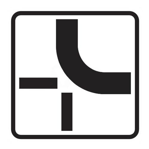 Dopravní značka - Dodatková tabulka - Tvar křižovatky, E2b 500mm, tip2
