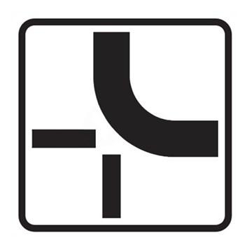 Dopravní značka E2b - Tvar křižovatky,  tip2