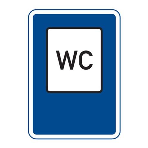 Dopravní značka - WC, 500 x 700mm