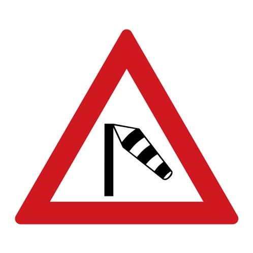 Dopravní značka - Boční vítr