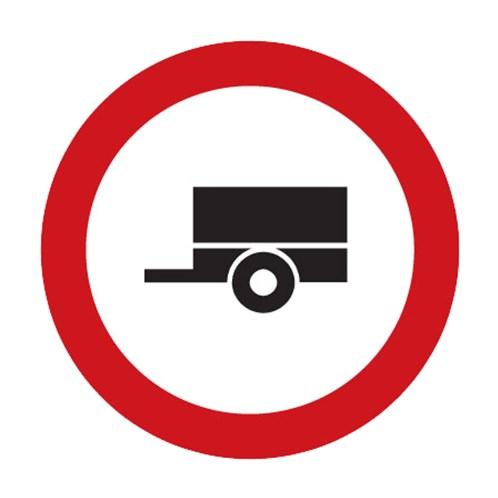 Dopravní značka - Zákaz vjezdu motorových vozidel s přívěsem