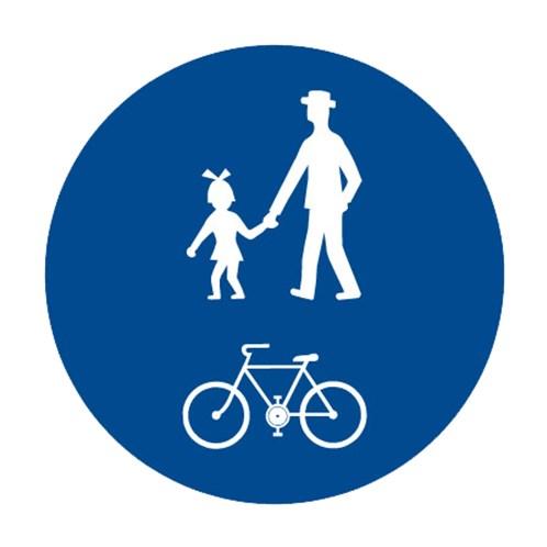 Dopravní značka - Stezka pro chodce a cyklisty