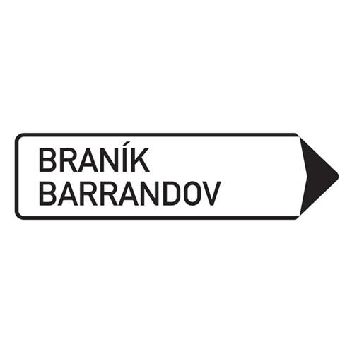 Dopravní značka - Směrová tabule, 1350 x 500mm