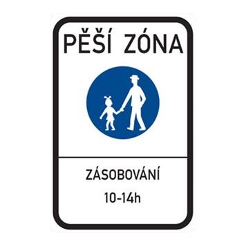 Dopravní značka IZ6a - Pěší zóna
