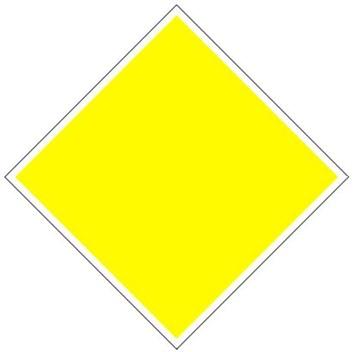 Plavební znak D1 - Doporučené proplouvání v obou směrech