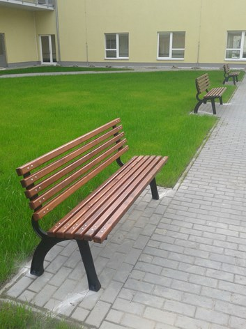 Lavička Start, litinová