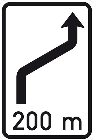 Dopravní značka IS10b - Návěst změny směru jízdy