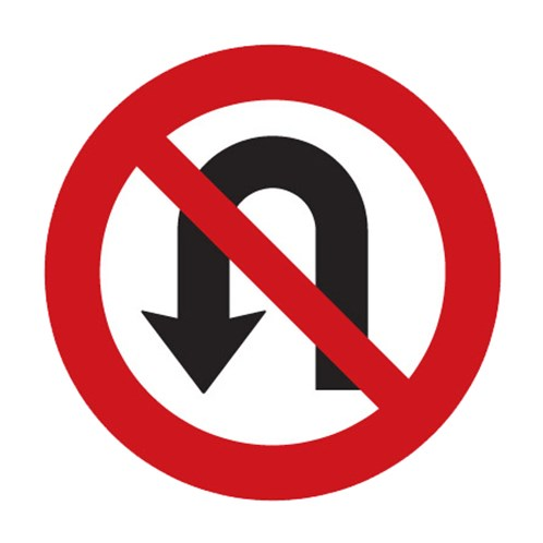 Dopravní značka - Zákaz otáčení