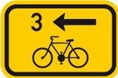 Cyklo značka IS21b - Směrová tabulka pro cyklisty