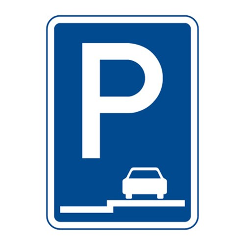 Dopravní značka - Parkoviště (stání na chodníku podélné), 500 x 700mm