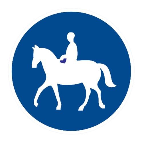 Dopravní značka - Stezka pro jezdce na zvířeti