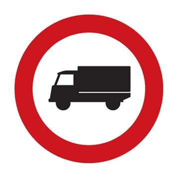 Dopravní značka B4 - Zákaz vjezdu nákladních automobilů