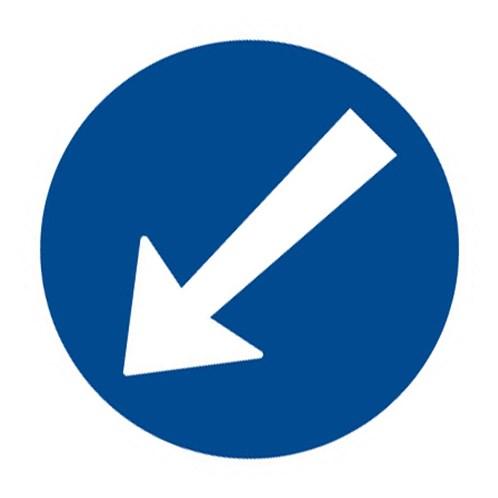 Dopravní značka - Přikázaný směr objíždění vlevo