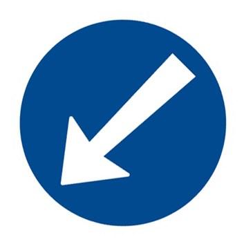Dopravní značka C4b - Přikázaný směr objíždění vlevo