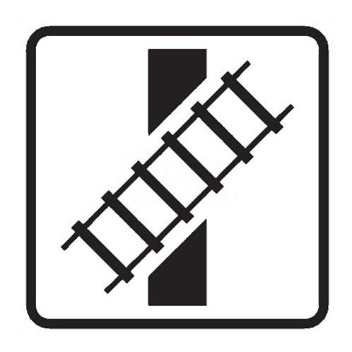 Dopravní značka - Dodatková tabulka - Tvar křížení pozemní komunikace s dráhou, E10, 500mm