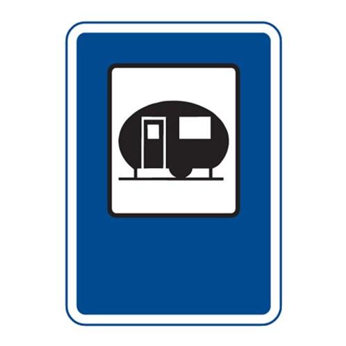 Dopravní značka - Tábořiště pro obytné přívěsy, 500 x 700mm
