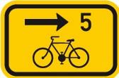 Cyklo značka IS21c - Směrová tabulka pro cyklisty
