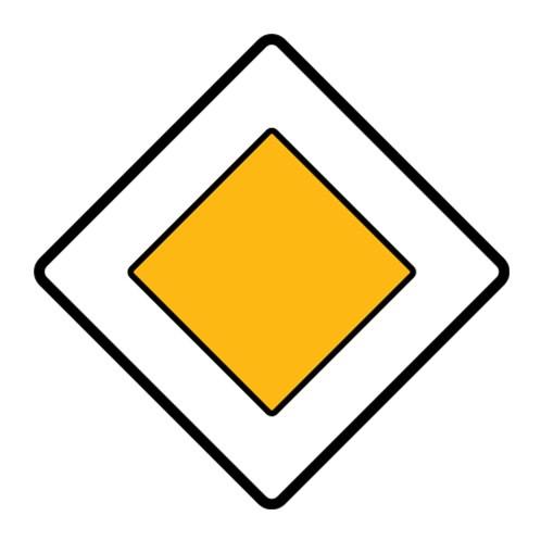 Dopravní značka - Hlavní pozemní komunikace, 500mm