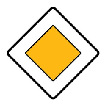 Dopravní značka P2 - Hlavní pozemní komunikace