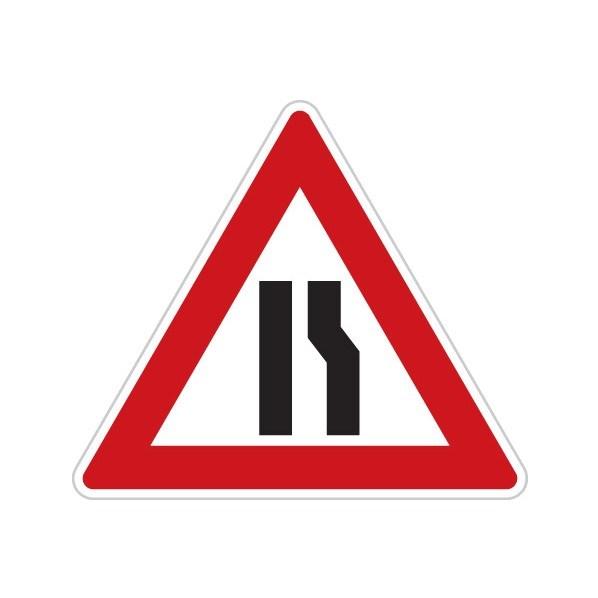 Dopravní značka - Zúžená vozovka (z jedné strany)