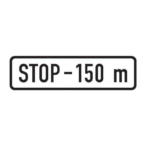 Dopravní značka - Dodatková tabulka - Vzdálenost, E3b, 500 x 150mm