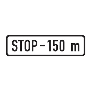 Dopravní značka E3b - Vzdálenost, 500 x 150mm