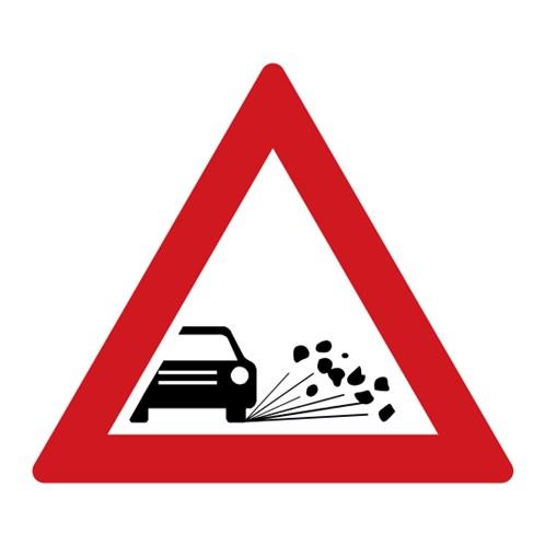 Dopravní značka - Odlétávající štěrk