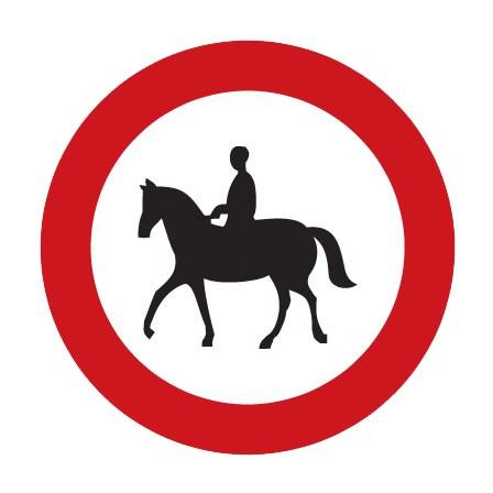 Dopravní značka - Zákaz vjezdu pro jezdce na zvířeti