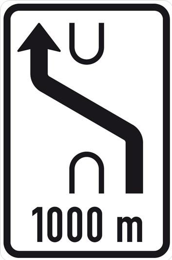 Dopravní značka IS10a - Návěst změny směru jízdy