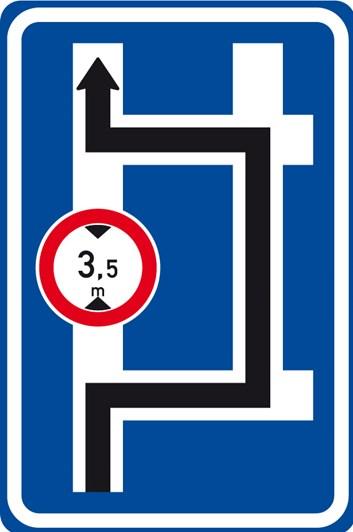 Dopravní značka IS9d - Návěst před křižovatkou