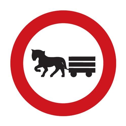 Dopravní značka - Zákaz vjezdu potahových vozidel