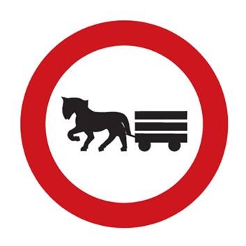 Dopravní značka B9 - Zákaz vjezdu potahových vozidel