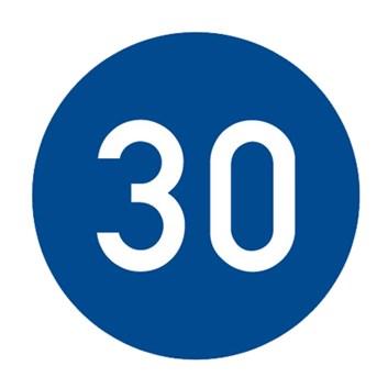 Dopravní značka C6a - Nejnižší dovolená rychlost